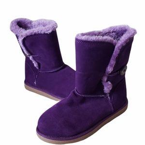 B2G1 NEW Target Xhilaration Purple Fleece Booties